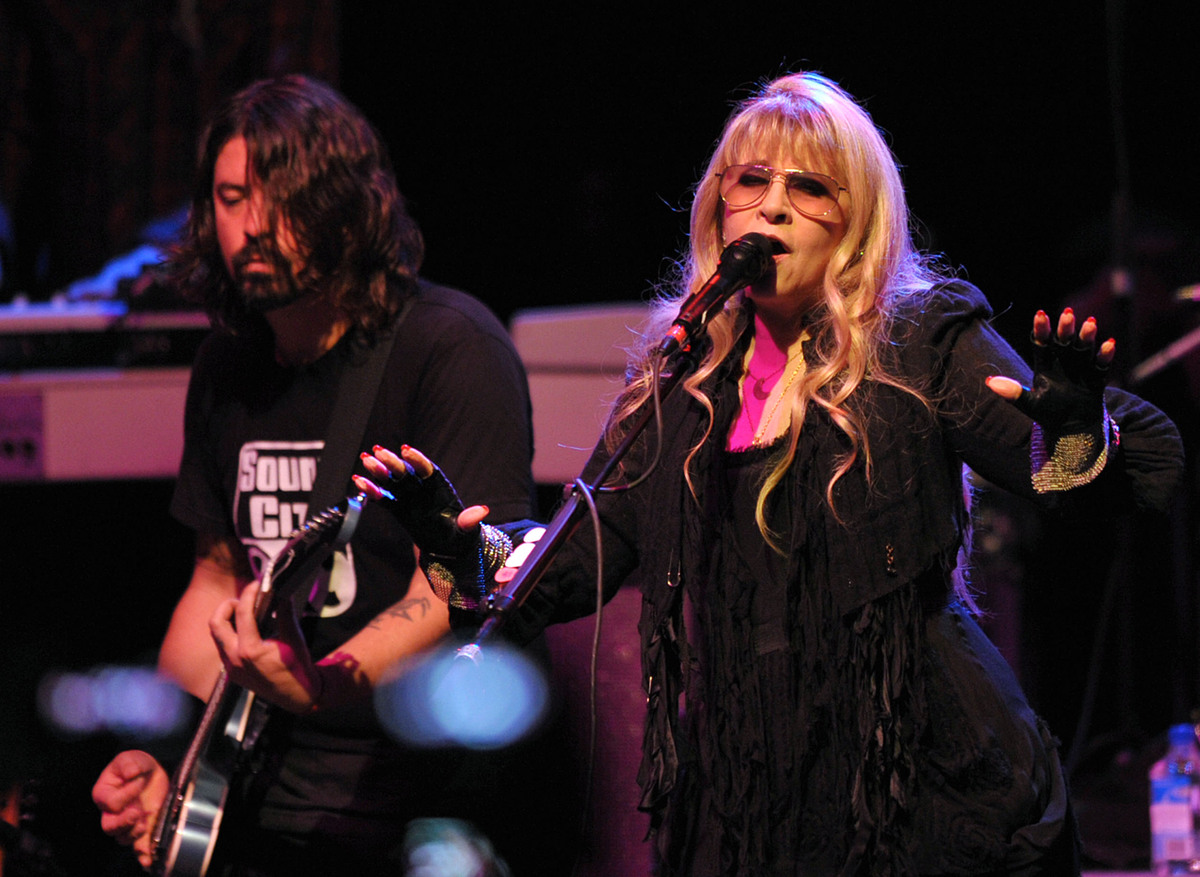 Dave Grohl, left, and Stevie Nicks perform with Sound City Players at the Hollywood Palladium on Thursday, Jan. 31, 2012 in L
