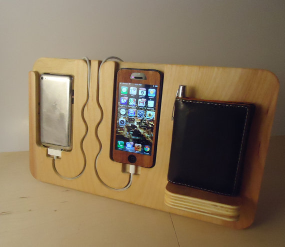 "He'll never lose his stuff again with this clean-lined catch-all. <a href=""http://www.etsy.com/listing/120019917/iphone-4-4s-"
