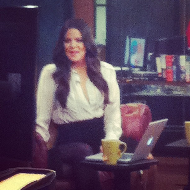 Hey there, Khloe Kardashian. Fancy seeing you at HuffPost.