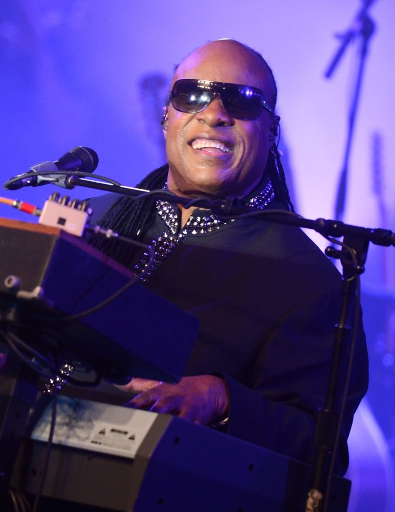 Stevie Wonder performs onstage at Bud Light Presents Stevie Wonder and Gary Clark Jr. at the Bud Light Hotel on February 2, 2
