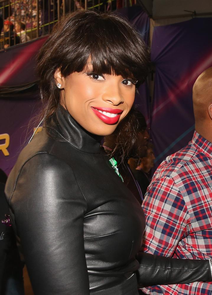 NEW ORLEANS, LA - FEBRUARY 03:  Singer Jennifer Hudson arrives to the Pepsi Super Bowl XLVII Pregame Show at Mercedes-Benz Su