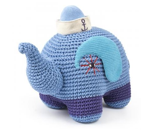 "Photo by <a href=""http://www.jonathanadler.com/Junior-Crocheted-Elephant/?cat=560"">Jonathan Adler</a>"