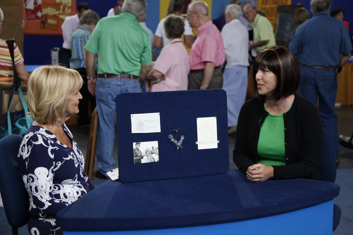 Laura Woolley, right, with Myrtle Beach guest, Jeanette and her Marilyn Monroe collection