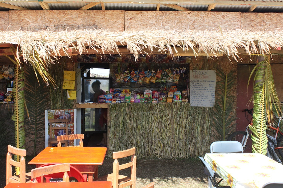 Other food was also available in abundance under temporary canopies.