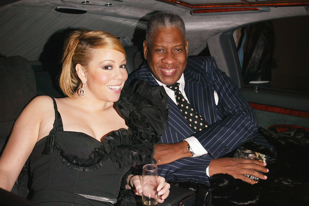 (EXCLUSIVE, Premium Rates Apply) Mariah Carey, Andre Leon Talley (Photo by Sylvain Gaboury/FilmMagic)