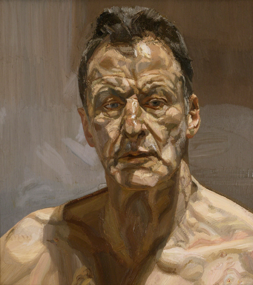 Reflection (Self-portrait), 1985 Private Collection, Ireland © Lucian Freud. Image: Courtesy Lucian Freud Archive