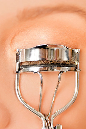 When your lashes are upturned, your eyes look more open. For the biggest payoff, squeeze a lash curler once at your lashline,