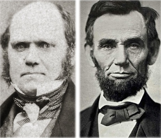 Charles Darwin and Abraham Lincoln were both born on February 12, 1809.