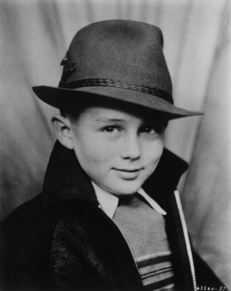 James Dean as a child