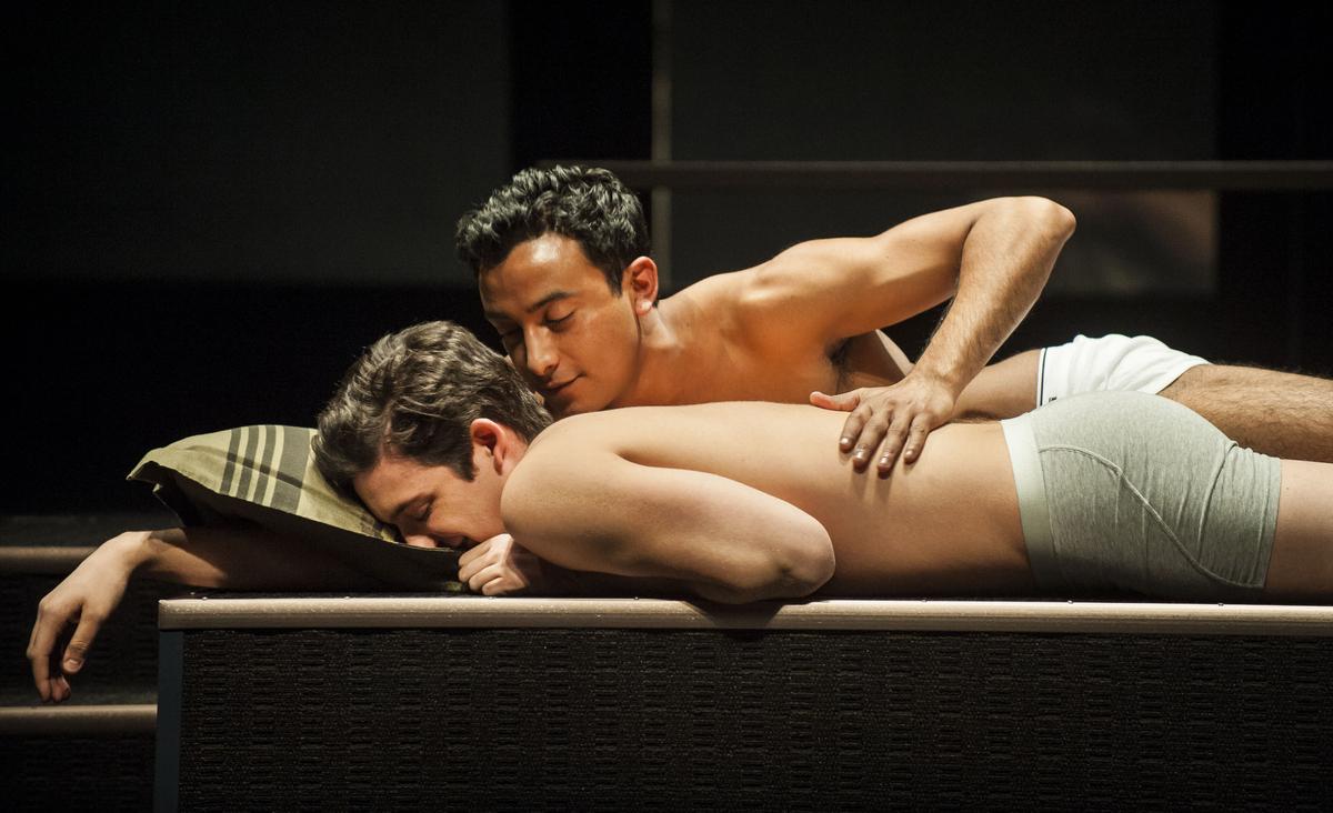 "Liam Benzvi (Gabe) and Adam Poss (Drew) in Pulitzer Prize finalist Christopher Shinn's ""Teddy Ferrara,"" directed by Evan Cabn"