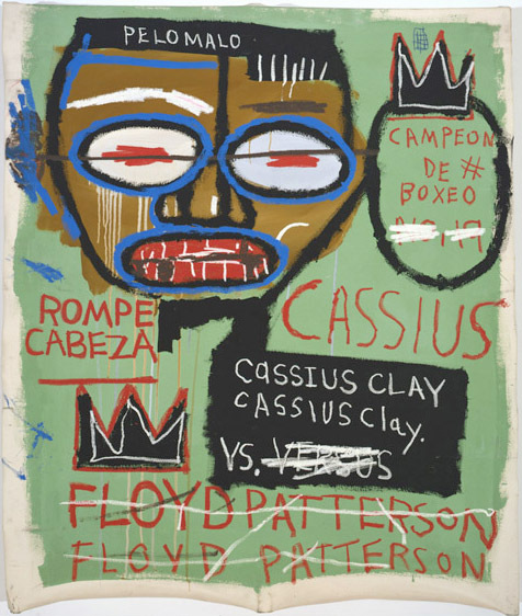 """Cassius Clay"", 1982  © The Estate of Jean-­Michel Basquiat/ADAGP, Paris, ARS, New York 2013. Courtesy Gagosian Gallery. Phot"