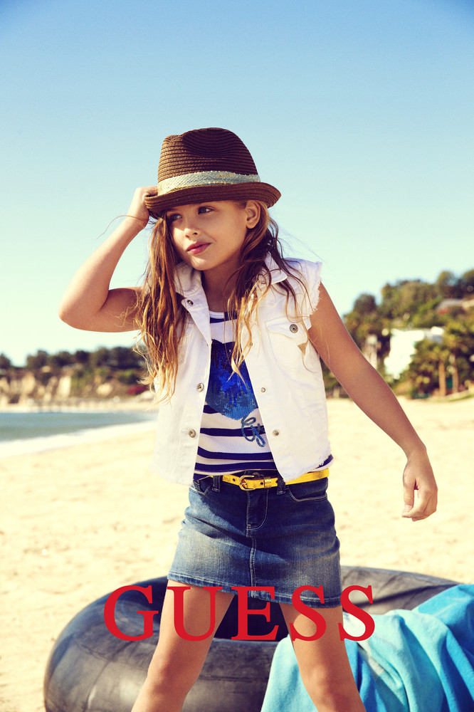 This campaign ad image provided by Guess? Inc., shows 6-year-old Dannielynn Birkhead. Birkhead, the daughter of the late Anna