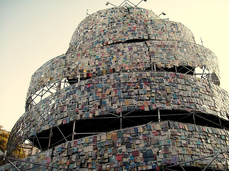 Babel Tower of books in Buenos Aires