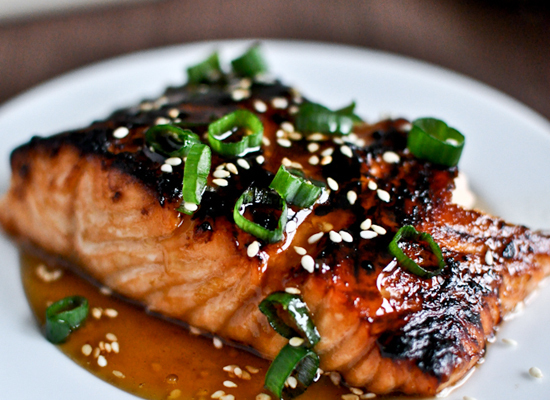 "<strong>Get the <a href=""http://www.howsweeteats.com/2012/03/toasted-sesame-ginger-salmon/"">Toasted Sesame Ginger Salmon reci"