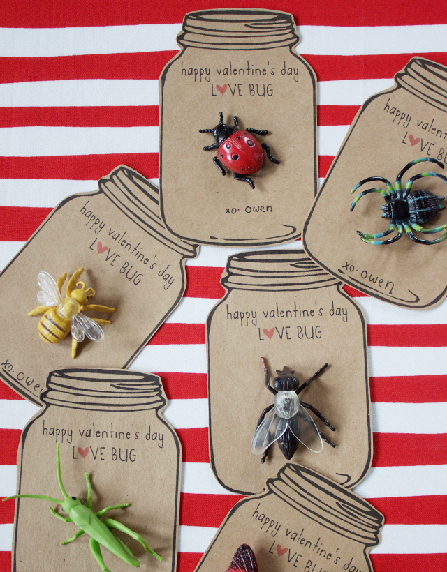 Help your kids make these love-bug Valentine crafts! These critters are perfect for a big group or classroom activity. The la