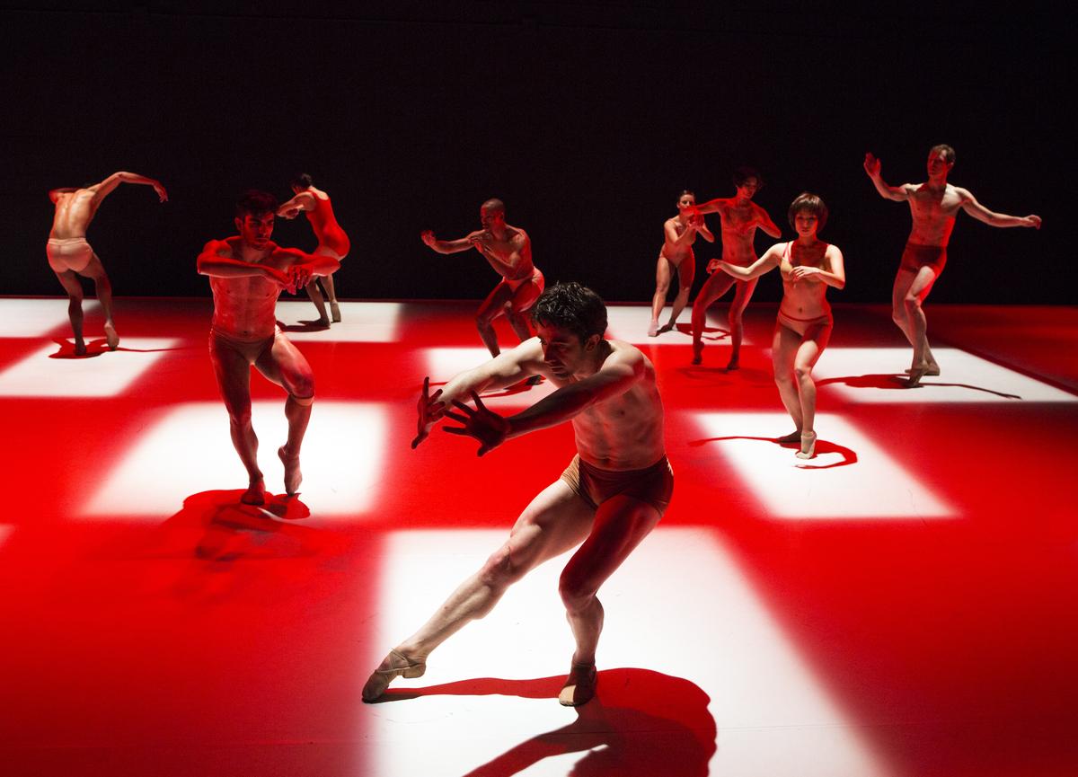 Choreography by Karole Armitage Company: Armitage Gone! Dance Dancer: Cristian Laverde König (foreground)
