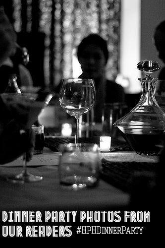 A collection of pictures of dinner parties. #HPHDinnerParty