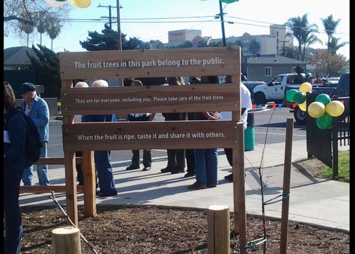 A message for the public, Del Aire Park Image courtesy of J. Owen Driggs