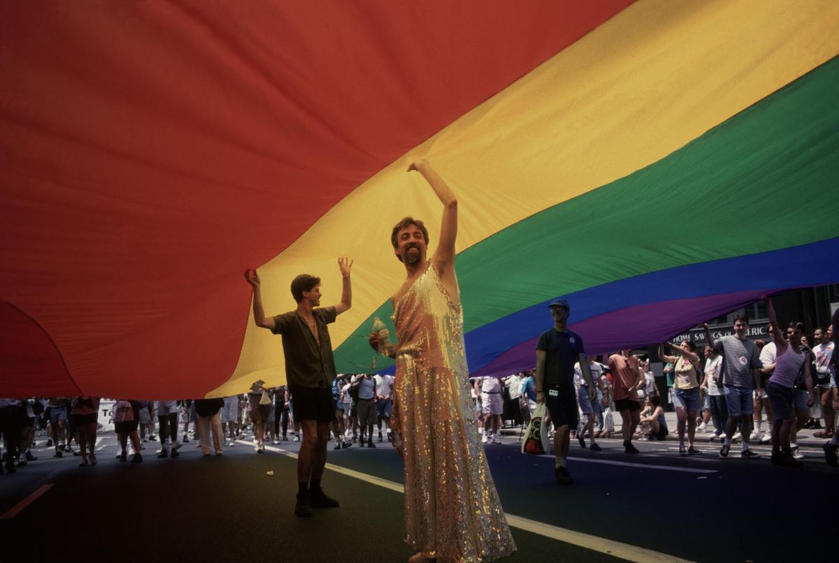 USA. New York City. 1994. Greenwich Village. 25th Anniversary of Gay Revolt at Stonewall. © Paul Fusco/Magnum Photos