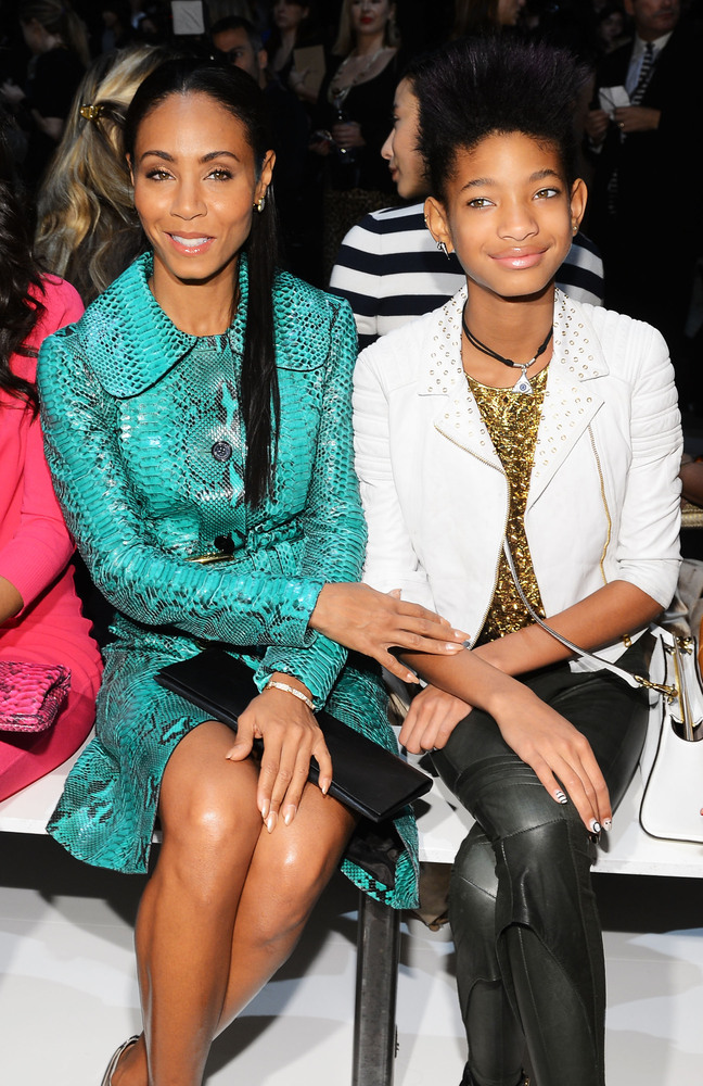 NEW YORK, NY - FEBRUARY 13:  Jada Pinkett Smith and Willow Smith attend the Michael Kors Fall 2013 fashion show during Merced