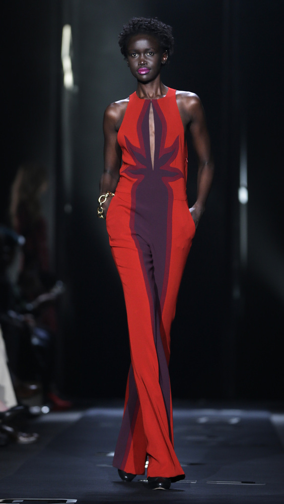 The Diane von Furstenberg Fall 2013 collection is modeled during Fashion Week in New York, Sunday, Feb. 10, 2013. (AP Photo/S
