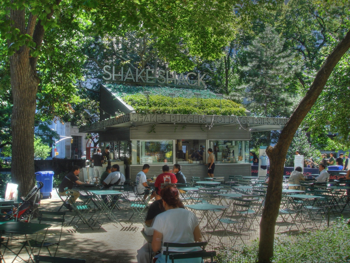 A juicy, meaty classic, the Shake Shack was born in Manhattan's Madison Square Park, but now serves its shakes, burgers and f