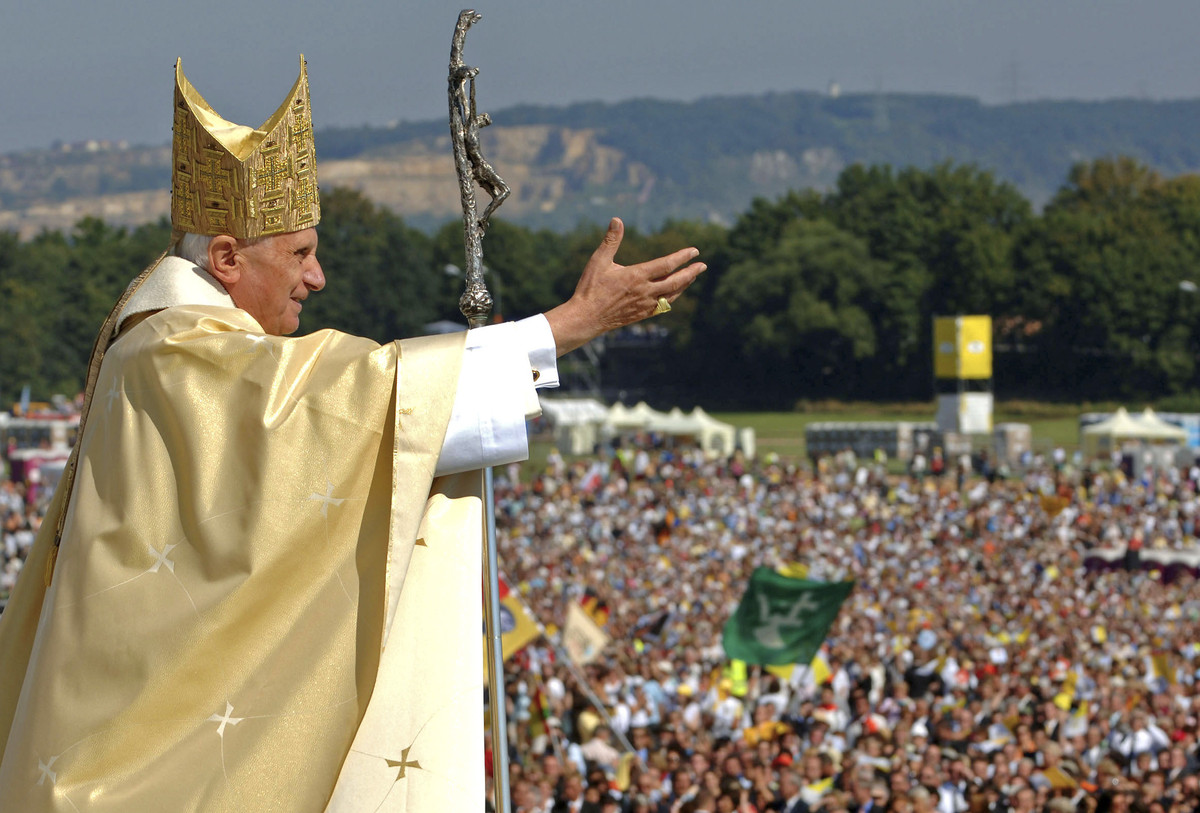 "<em>""Truth is not determined by a majority vote.""</em>  FILE - In this Sept. 12, 2006, file photo, Pope Benedict XVI waves to"