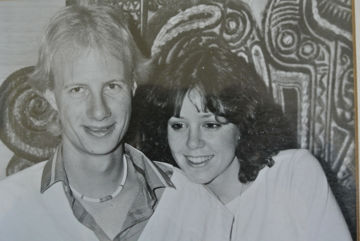 The couple in Cannes inn 1983.