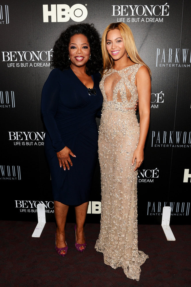 NEW YORK, NY - FEBRUARY 12:  Oprah Winfrey and Beyonce attend the HBO Documentary Film 'Beyonce: Life Is But A Dream' New Yor