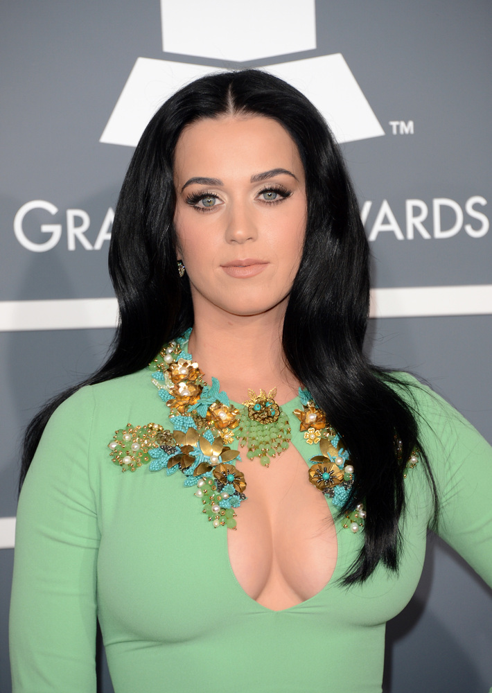 "Katy Perry showed up at the 55th Annual Grammy Awards on Feb. 10 with a boob window so wide, even <a href=""http://www.huffing"