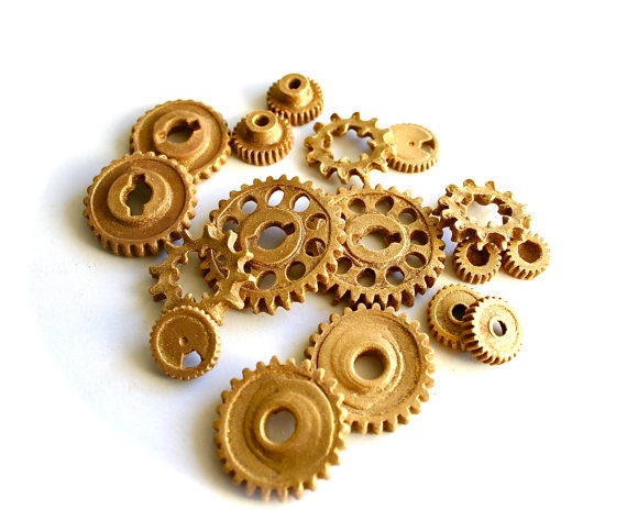 """Edible Chocolate Candy Gears, 50 unique edible embellishments   $42.50   <a href=""""http://www.etsy.com/listing/98900323/edible"""