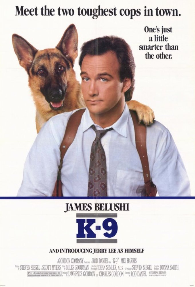 This movie is about a goofy cop, played by James Belushi, taking down an international drug dealer with the help of his dog.
