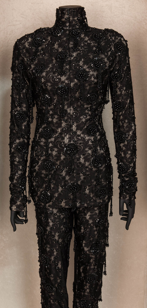 A one-piece suit worn by Whitney Houston on stage in the '90s.