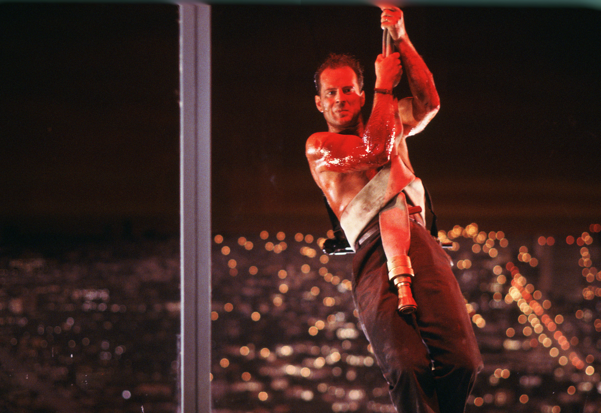 This publicity photo released by Twentieth Century Fox Home Entertainment shows Bruce Willis in a scene from the 1988 film, ""
