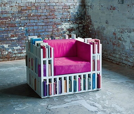 You'll never have to get up from this chair for a good read.