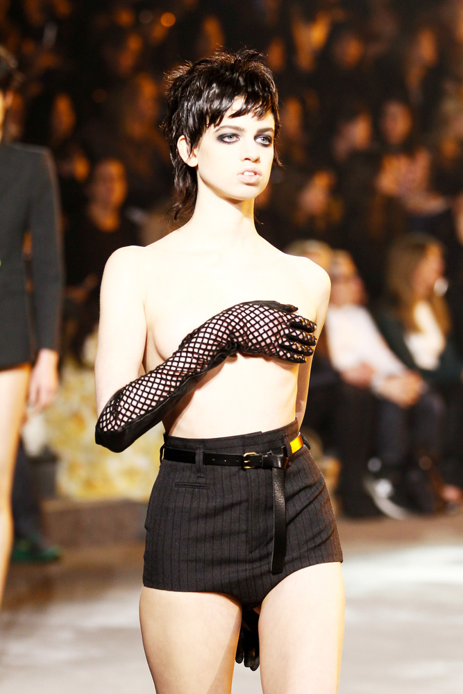 "Marc Jacobs sent this model down his runway <a href=""http://www.huffingtonpost.com/2013/02/15/lily-mcmenamy-model-topless_n_2"