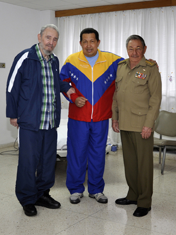 Chavez says on television from Cuba that he had a cancerous tumor removed from his pelvic region. He later says the tumor ext