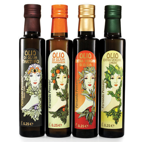These Art Nouveau-inspired bottles of extra-virgin olive oil are too striking not to leave out on the kitchen counter.  $25 f
