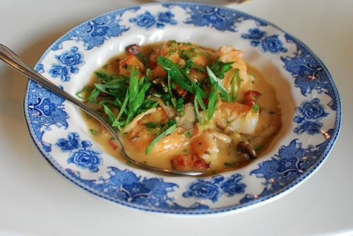 Shrimp and Grits ($17), a Lowcountry staple, is becoming more prevalent in L.A., and The Hart + The Hunter hits the sweet spo