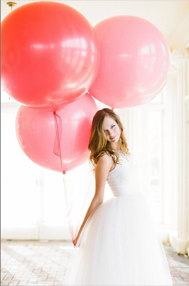 """Carry a bouquet of balloons instead of blooms.<br><a href=""""http://lover.ly/browse/category/All_Dresses?utm_source=huffpo2-20-"""