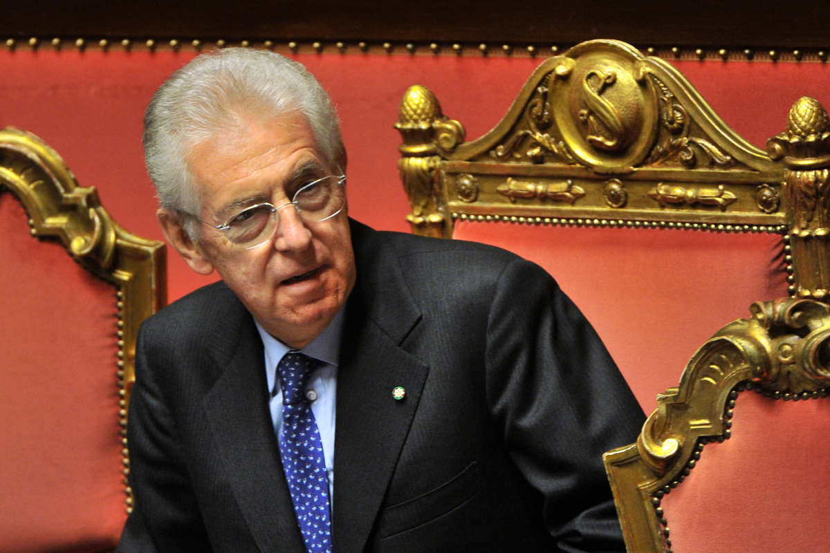 The former European commissioner, Monti was called in by the Italian President Giorgio Napolitano to take over for Silvio Ber