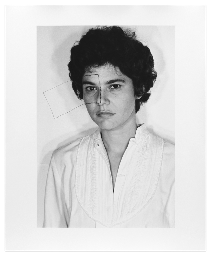 Exhibitor: Barbara Krakow Liliana Porter Untitled (Self portrait with square), 1973, printed 2012 Gelatin silver print, print