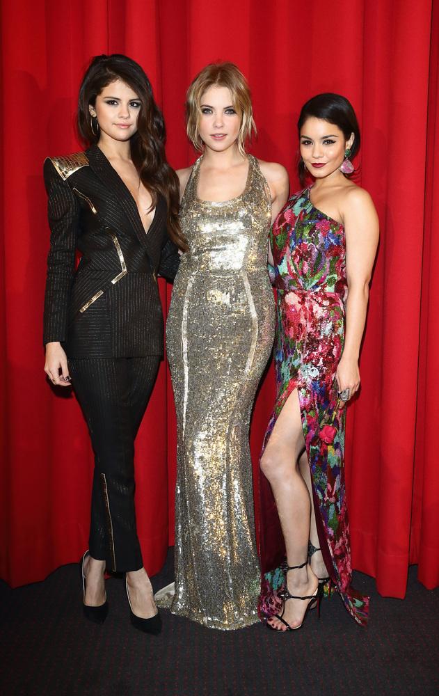 Selena Gomez, Ashley Benson y Vanessa Hudgens en el estreno de 'Spring Breakers' en Alemania el 19 de febrero de 2013.