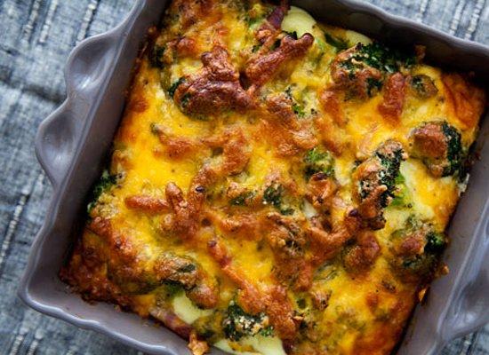 """Get the <a href=""""http://www.simplyrecipes.com/recipes/broccoli_cheese_casserole/"""">Broccoli Cheese Casserole recipe</a> by Sim"""