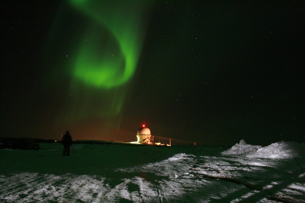 The northern lights near an observatory outside Fairbanks, Alaska. This year and next year are expected to offer prime viewin