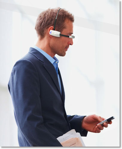 """<a href=""""http://www.vuzix.com/augmented-reality/products_m100ag.html"""">This Google Glass competitor</a>, recently tested at th"""
