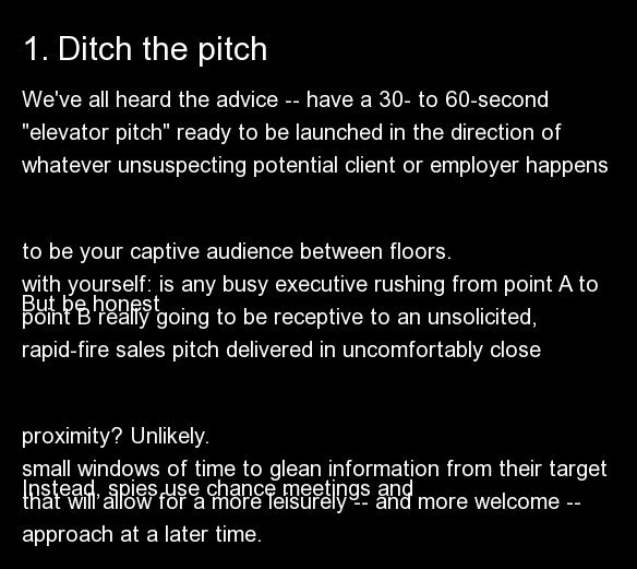 """We've all heard the advice -- have a 30- to 60-second """"elevator pitch"""" ready to be launched in the direction of whatever unsu"""