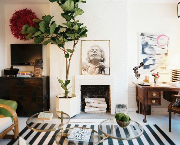 These photos are from my last apartment in the West Village. Our living room was bathed in light all day long. I loved keepin