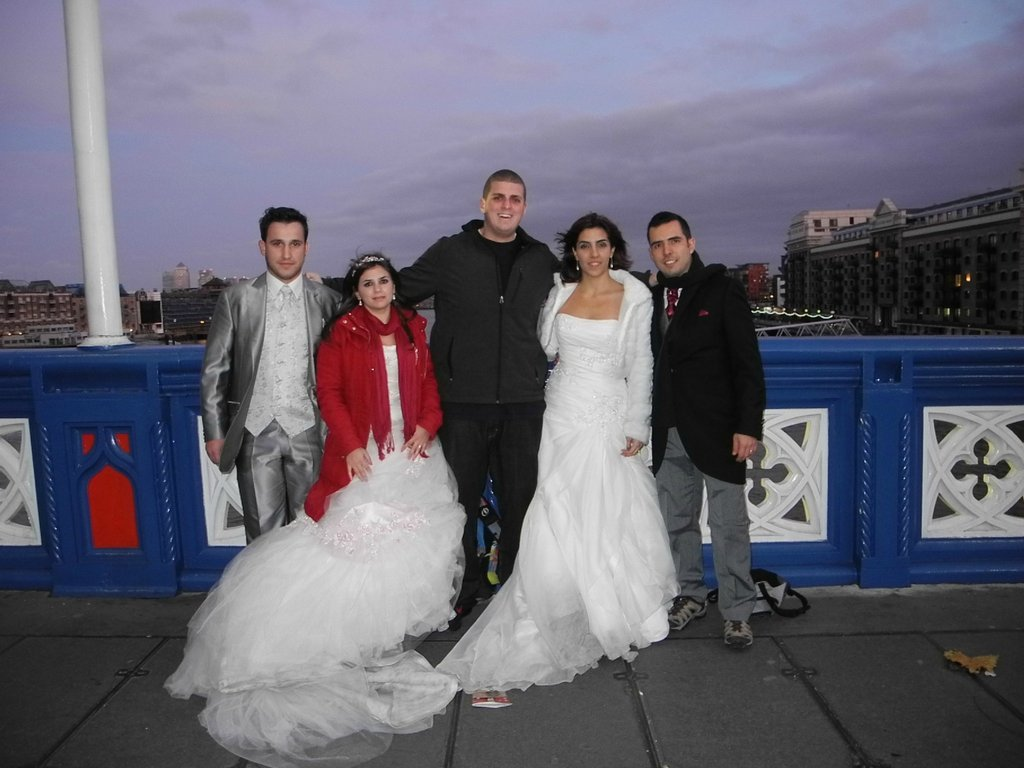 """""""The two couples in England were Brazilian, and after I took the picture, both of the brides asked for money. When I asked wh"""