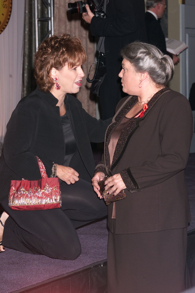 Joy Behar and Tyne Daly at the New York Friar's Club Roast of Rob Reiner.  The roast was presented by Comedy Central. 10/06/2